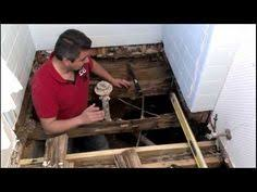 Water Under Bathroom Floor How To Replace A Rotting Bathroom Floor House Bath And Toilet
