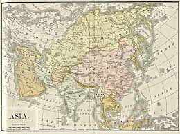 Countries Of Asia Map by Map Of Asia 1892 Full Size