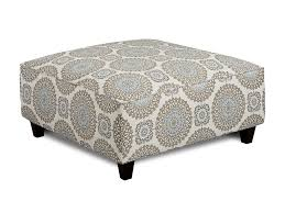 Ottomans by Fusion Furniture Grande Mist Brianne Twilight Cocktail Ottoman