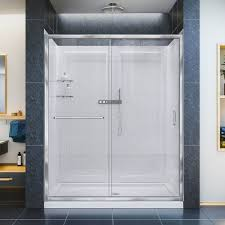 dreamline infinity z frameless sliding shower door 32 in x 60 in