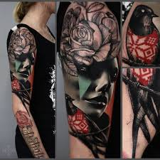 amazing sleeve tattoo 4 portrait sleeve tattoo on tattoochief com