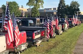 Confederate Flag Pickup Truck Rocori Students Protest Parking Lot Flag Ban