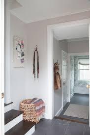 beautiful foyer features walls painted light gray benjamin moore