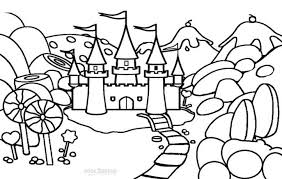 coloring pages castle coloring pages frozen castle coloring