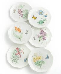 lenox butterfly meadow accent salad plate dinnerware dining