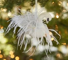 lhuillier feather swan ornament pottery barn