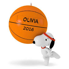 slam dunk snoopy basketball ornament keepsake ornaments hallmark