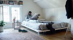 a minimal platform bed for city living design milk