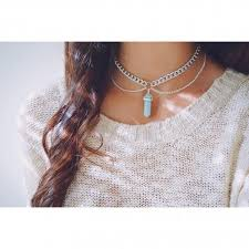 double chain necklace choker images Chokers vivamacity jpg