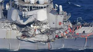 Us Flagged Merchant Ships Destroyer Uss Fitzgerald Badly Damaged After Collision With