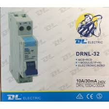 drnl 32 3ka 20 amp single pole safety switch rcbo rcdmcb 30ma dl