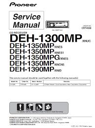 pioneer deh 1300mp wiring pioneer car stereo wiring diagram