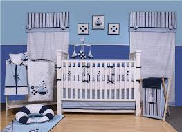 blue baby nursery interior decorating ideas with blue wall paint