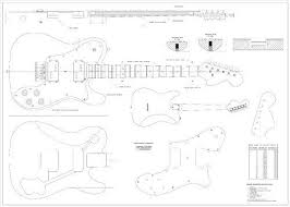 full scale plans fender telecaster deluxe electric guitar