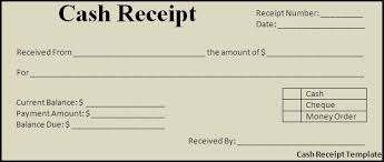 cash payment receipt template free cash receipt template