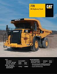 kw trucks 770 off highway truck caterpillar equipment pdf catalogue