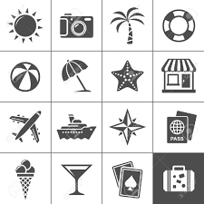 vacation and travel icon set simplus series each icon is a
