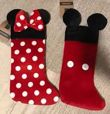 Christmas Stocking Decorations Disney Primark Mickey Mouse And Minnie Mouse Christmas Stocking