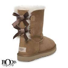 womens boots uk size 8 ugg meilani chestnut sheepskin suede bow winter boots shoes womens