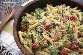 Cold Pasta Salad Recipe Chicken Caesar Pasta Salad Recipe