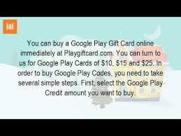 buy play gift card how do i buy a gift card for play