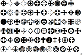 identifont cross ornaments