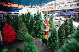 christmas tree shop online plastic christmas trees await buyers in divisoria photos gma