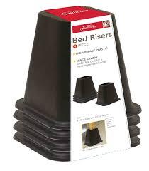 Tall Bed Risers Sunbeam Bed Riser Set Set Of 4 Walmart Com