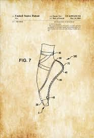 Dance Studio Decor Pointe Shoe Patent Patent Prints Ballet Shoes Toe Shoe Pointe