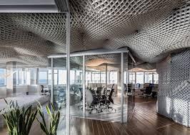paritzki u0026 liani architects creates cloud like ceiling for office