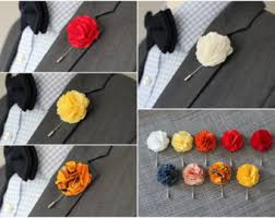 Lapel Flower Lapel Flower Pin Linen Ice Blue Carnation Boutonniere