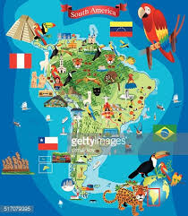 map of south america in south america map vector getty images