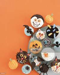 halloween cupcakes stock photo getty images