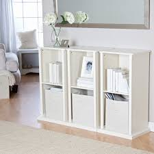 Narrow Cube Bookcase by The Caldwell Stackable Vertical Bookcase Vanilla Hayneedle