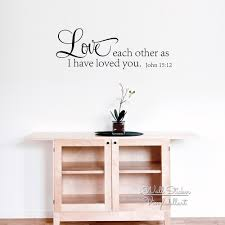 aliexpress com buy love each other quote wall sticker bible