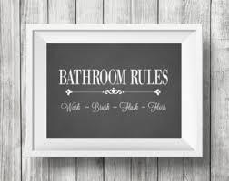 Bathroom Wall Decor Powder Room Art Etsy