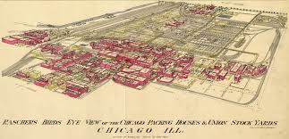 Chicago Maps by Chicago Meatpacking District And Stockyards 1890