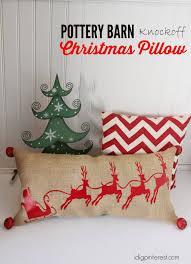 Christmas Pillows Pottery Barn Pottery Barn Knockoff Santa And Sleigh Christmas Pillow Plus
