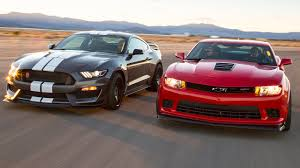 camaro and mustang 2016 ford mustang shelby gt350r vs 2015 chevrolet camaro z 28
