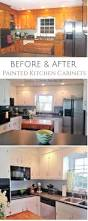 painted kitchen cabinets pin before and after painted kitchen cabinets with new hardware