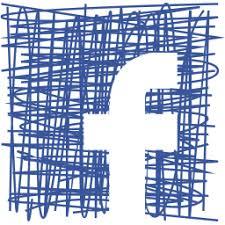 facebook social media pen sketch icon