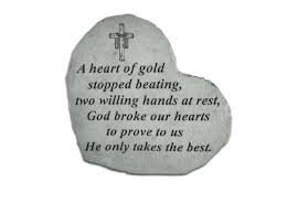 memorial stepping stones a heart of gold memorial stepping