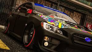 subaru custom cars 2016 subaru wrx sti replace tuning gta5 mods com