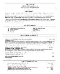 Example Pharmacist Resume by Resume Format For Pharmacist Freshers Free Resume Templates