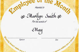 emp certificate employee of the month photo shared by alano28