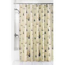Sailboat Shower Curtains Sailboat Fabric Shower Curtain Tree Shops Andthat