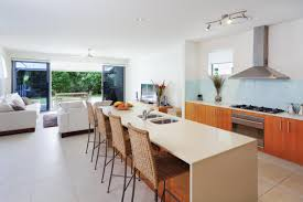 orange kitchen design concept of the ideal kitchen decorating for minimalist house