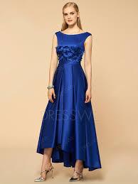 scoop flower high low bridesmaid dress bridesmaid dresses