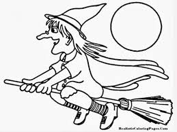 witch halloween coloring pages www kanjireactor
