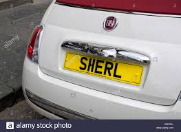Jeffrey Spellings Personalised Car License Plate With A Spelling Of The Female Name